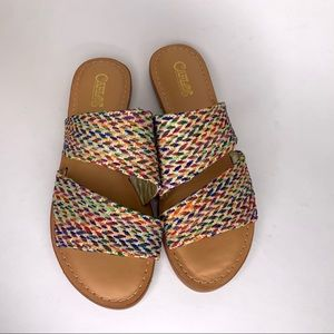 Carlos Santana Multi Color Slide Sandal 'Holly'
